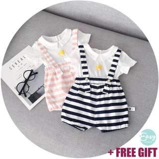 Baby Jumpsuit Romper with Inner T-Shirt