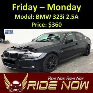 BMW 323i 2.5A Weekend Rental