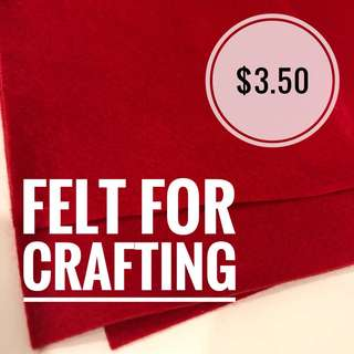Red and Green felt for crafting