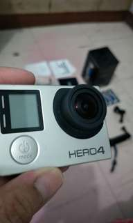 GoPro Hero 4 Silver complete accs with free tripod