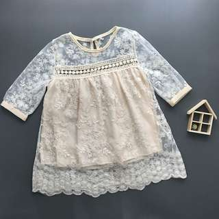 Kids Girl Lace Hollow Dress