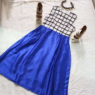 NEW electric blue flare dress