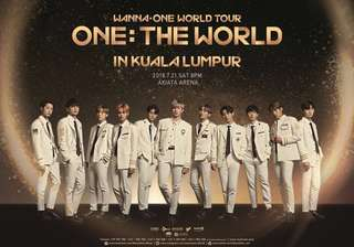 🌈 RESERVED! Wanna One World Tour concert ticket PEN 4 (One : The World) in KL