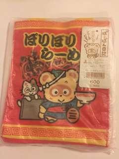 Sanrio vintage 浣熊日記 mini tote bag 袋 1985 14x17x6cm