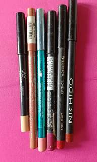 Nichido,Essence,Sansan lipliners assorted