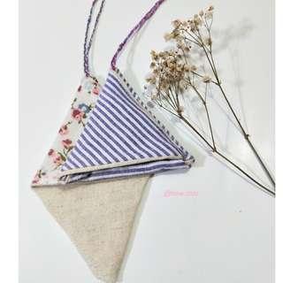 Handmade triangle key pouch