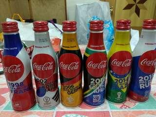可口可樂世界盃特別版一套六支