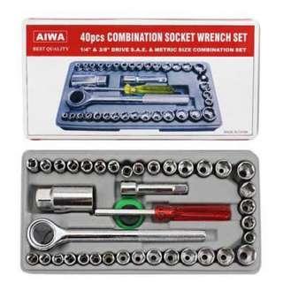 Aiwa 40 pcs combination socket wrench set small