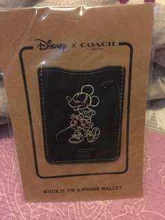 限量阪 全新Disney x coach phone wallet