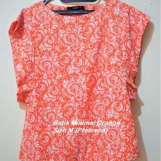 Minimal Batik Light Orange (Preloved) Size M