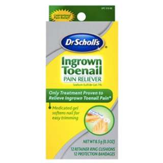 🚚 Dr. Scholl's Ingrown Toenail Pain Reliever, 1 kit, (w/ Gel, 12 retainer rings & 12 protection bandages)