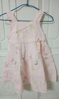 🚚 美國 GYMBOREE 女童無袖刺繡洋裝 淺粉色