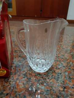 RCR crystal pitcher + 6 glasses