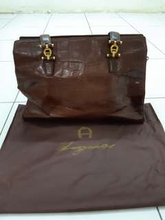 Aigner brown croco bag