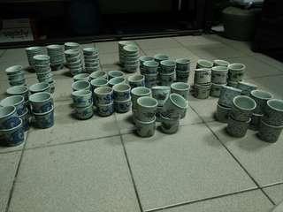 早期青花茶杯90個
