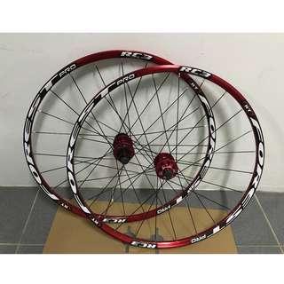 💯🆕27.5'' (RT RC3 Loud Sound & Smooth) Mountain bike/bicycle wheel set (full red)