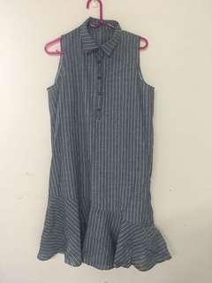 🚚 條紋魚尾裙