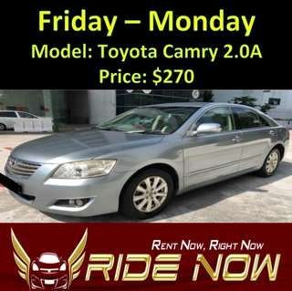 Toyota Camry 2.0A Weekend Rental