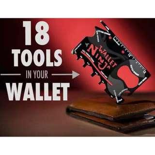 Ninja wallet 18 tools in 1