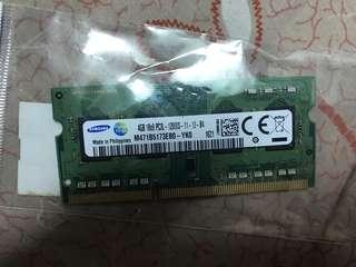 🚚 DDR3 PC3L 4GB 1600MHZ Samsung