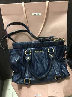 Miu Miu Vitello Lux Leather Bag