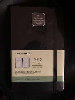 Moleskine - 2018 Weekly Horizontal Dairy / Planner