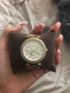 Women's Micheal kors gold watch
