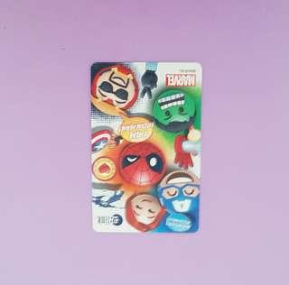 Limited edition Marvel ezlink card