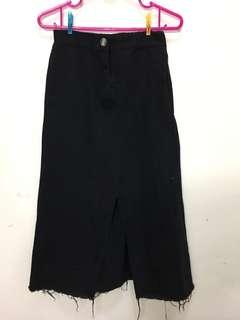 🚚 黑色開衩裙