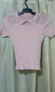 Knitted korean blouse