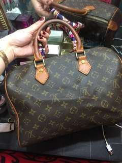 Preloved Lv speedy 30! With code! Free twilly and charm! Goodcondition!