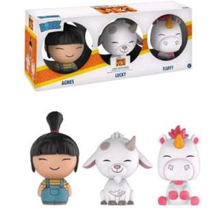 INSTOCK: funko dorbz despicable me 3 3-pack (ONLY SELLING AGNES AND LUCKY)
