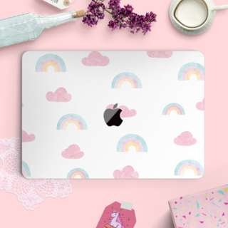 Pastel Rainbow & Cloud Macbook Vinyl Decal