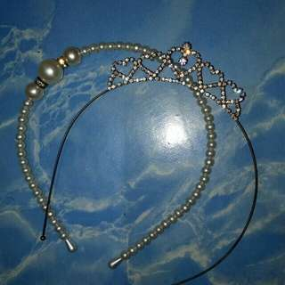 Pearl and diamond headbands
