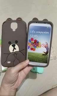 Silicon case Brown for Samsung S4
