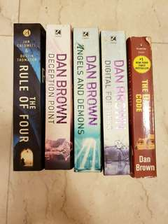 5 Novels Dan Brown Rule of Four Angels and Demons Davinci Code Digital Fortress Deception Point Ian Caldwell