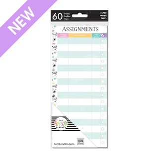 Assignments - Half Sheet - Classic