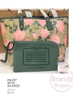 👜Best Deal! 💯% ORI Coach Women Floral Large City Tote / Shoulder Handbag 👜 (Ready Stock)