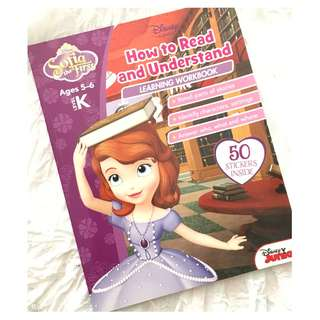 Disney Learning Disney Sofia the First How to Read and Understand Learning Workbook Children Book