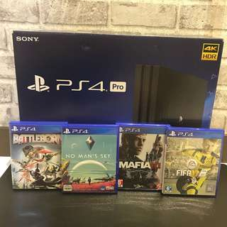 [USED] PS4 Pro 1TB + 1 Game Bundle