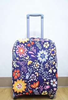 LUGGAGE COVER (dark floral)