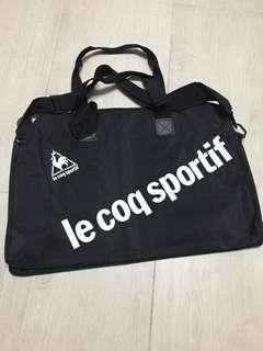 Le Coq Sportif黑色雙用運動袋