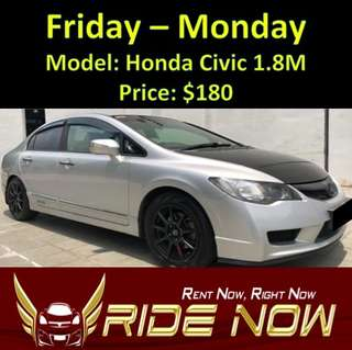 Honda Civic 1.8M Weekend Rental