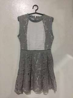 Gray Laced Dress