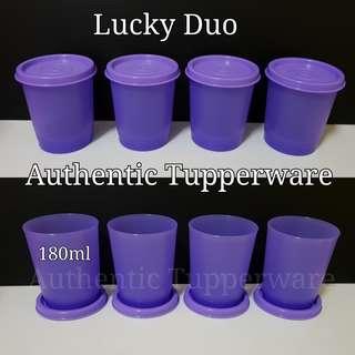 Authentic Tupperware Lucky Duo Tumbler Emberglow 180ml Retail Price S$4.70/pc