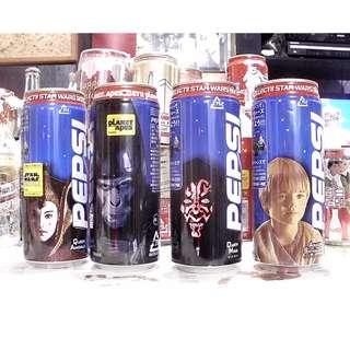 百事可樂星球大戰圖案鋁罐4個