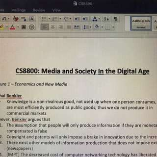 CS8800 Media and Society in the Digital Age