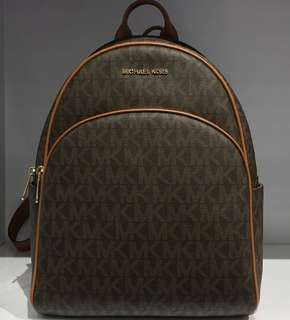 Brand New Michael Kors Large Acorn Logo Leather Backpack