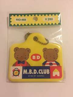 Sanrio vintage Mr Bear MBD Club 吊牌 1997