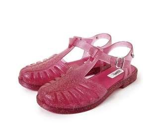 🚚 Melissa 香香鞋 巴西尺寸35,36(Mel 1979年 可愛經典果凍羅馬透明娃娃鞋-桃紅色)
